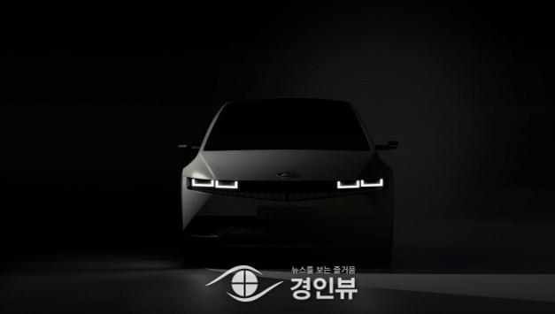 현대차, '아이오닉 5 외부 티저 이미지 공개